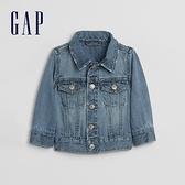 Gap嬰兒 淺色水洗翻領牛仔夾克 619872-水洗藍