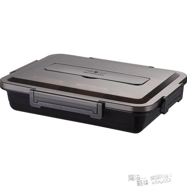 德國304不銹鋼保溫飯盒上班族分格餐盒套裝學生便攜分隔型便當盒 夏季新品