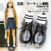 小皮鞋女日系復古軟妹圓頭平底娃娃鞋學生百搭英倫學院風單鞋   9號潮人館