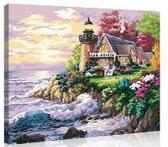 油畫diy數字油畫客廳風景動漫填色手工繪油彩裝飾畫   汪喵百貨