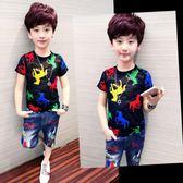 男童短袖T恤 透氣夏裝 2019新款韓版潮童裝兒童半袖 體恤衫男孩夏季