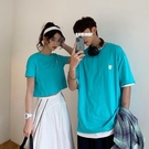 情侶裝 不一樣的情侶裝夏裝小眾設計感2020新款韓版ins短袖T恤女學生班服