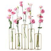 花瓶 創意歐式插花試管花瓶辦公室透明玻璃小清新裝飾花器家居餐桌擺件