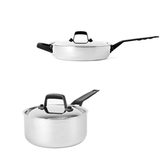 (組)316複合不鏽鋼煎鍋28cm+316複合不鏽鋼單柄湯鍋18cm