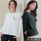 【天母嚴選】印字椰子樹長袖棉T(共二色)