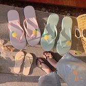 人字拖女防滑夾腳拖鞋外穿時尚可愛卡通拖鞋【橘社小鎮】