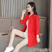秋季風衣女單層薄款2019韓版新款休閒時尚修身顯瘦中長款刺繡外套 聖誕1件特惠
