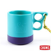 CHUMS 日本 露營野餐 保溫保冷馬克杯 藍綠/紫 ( 250ml) CH6201495118