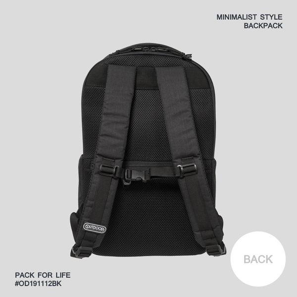 OUTDOOR - 2019新款 極簡風尚-15.6吋電腦後背包L-黑色 OD191112BK