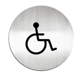 迪多Deflect-o 鋁質圓形貼牌-殘障洗手間 610610C