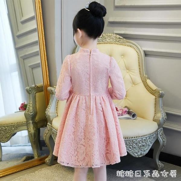 女童洋裝秋冬公主裙兒童秋裝小女孩唐裝洋氣紅裙子加絨長袖 【快速出貨】