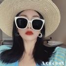 2020新款韓國白色偏光墨鏡女網紅眼鏡大臉顯臉小太陽鏡 艾家