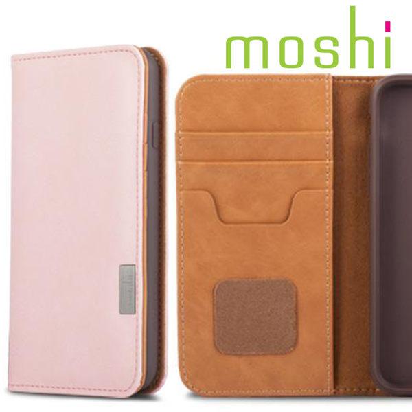 Moshi Overture for iPhone 7 側開卡夾型保護套(雛菊粉)