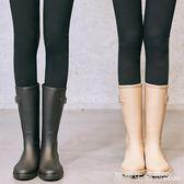 雨鞋 SLASHMODA簡約時尚雨鞋女成人韓國中筒水靴膠鞋防滑女士水鞋雨靴·夏茉生活