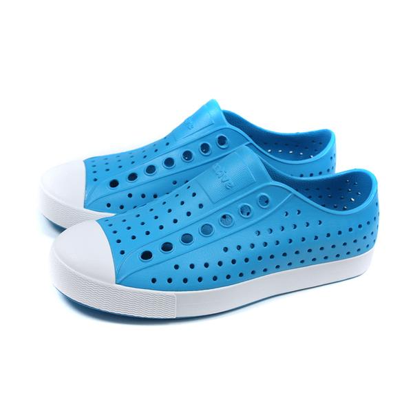 native JEFFERSON 懶人鞋 洞洞鞋 藍色 男女鞋 11100100-4161 no092