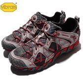 Merrell 戶外鞋 Waterpro Maipo 灰 紅 越野 運動鞋 休閒鞋 男鞋【PUMP306】 ML02341
