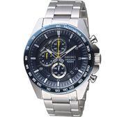 精工SEIKO三眼競速計時腕錶 8T67-00H0B(SSB321P1)