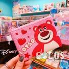 正版 迪士尼 玩具總動員 熊抱哥 雙面斜紋皮革零錢包 鑰匙圈零錢包 收納包 COCOS WZ075