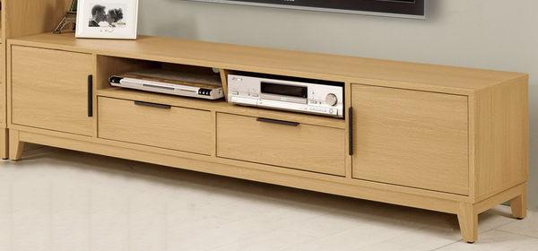 【森可家居】達拉斯6尺二門二抽長櫃 7CM324-1 電視櫃 木紋質感 無印北歐風