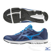 MIZUNO美津濃 WAVE SPARK 2 Jr. 一般型大童鞋(藍)