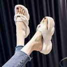 網紅拖鞋女夏季外穿厚底增高2021年新款松糕跟百搭時尚人字拖潮