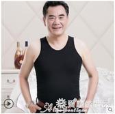 男生背心 夏季中年短袖男士純棉背心爸爸裝中老年人T恤吸汗衫寬鬆爺爺體恤 7月熱賣