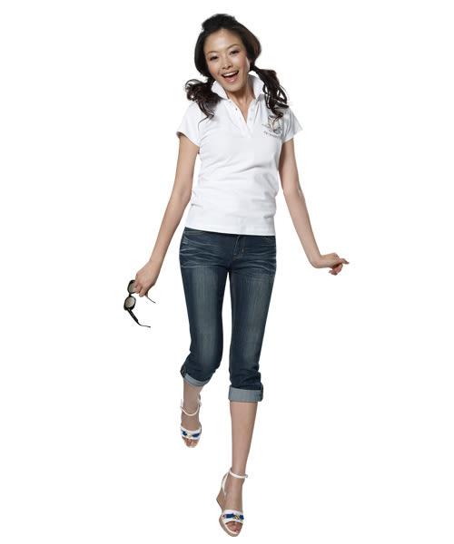 BOBSON 女款反摺七分褲(172-52)