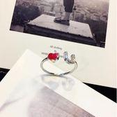 戒指 戒指女日韓國潮人開口尾戒小指個性關節指環大氣學生食指戒子【快速出貨特惠八五折】