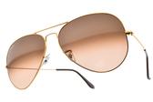 RayBan 太陽眼鏡 RB3026 9001A5 (金) 潮流時尚款 飛官墨鏡 # 金橘眼鏡