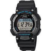 CASIO 輕巧魅力運動風太陽能電子錶(藍x黑)_STL-S300H-1A【屈臣氏】