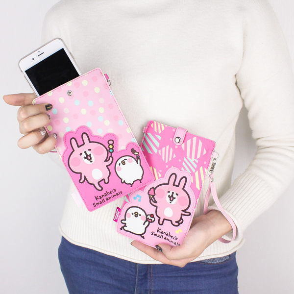 PGS7 卡娜赫拉系列商品 - 卡娜赫拉 Kanahei 兔兔 P助 直式 手機 收納袋 【SBN80097】