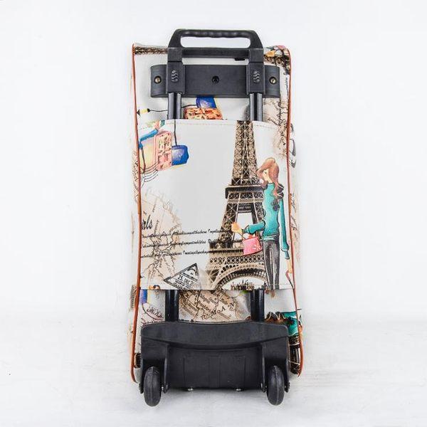 短途大容量拉桿包手提旅行包女學生行李袋PU正韓出差箱包休閒 XW 聖誕交換禮物