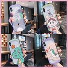 【手機殼王國】iPhone6/7/8/X/Xs/XsMax/Xr 新款 卡通圖案保護殼 玻璃弧邊 手機殼 卡通殼 蘋果殼