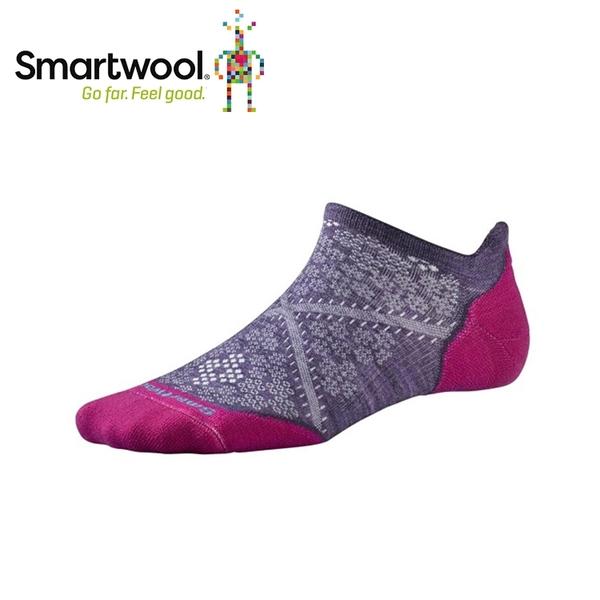 【美國 SmartWoola女Phd輕量菁英減震型跑步踝襪《沙漠紫》】SW0SW210/保暖/戶外/運動襪