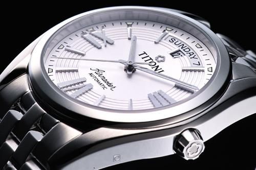 TITONI Airmaster 空霸紳士機械腕錶 93909S-342