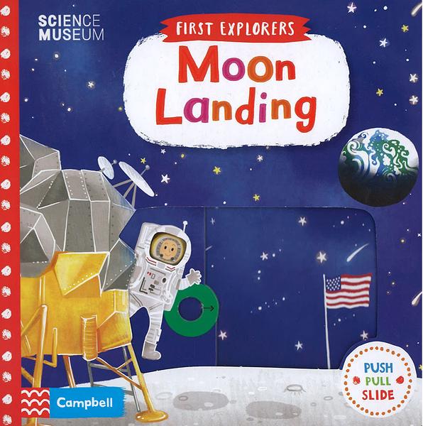 【幼兒知識操作書】FIRST EXPLORERS: MOON LANDING 硬頁操作書《主題:太空.科學》