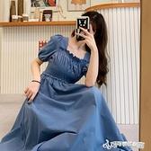法式洋裝 2020新款法式收腰顯瘦裙子夏季溫柔風洋裝設計感小眾長裙女神范