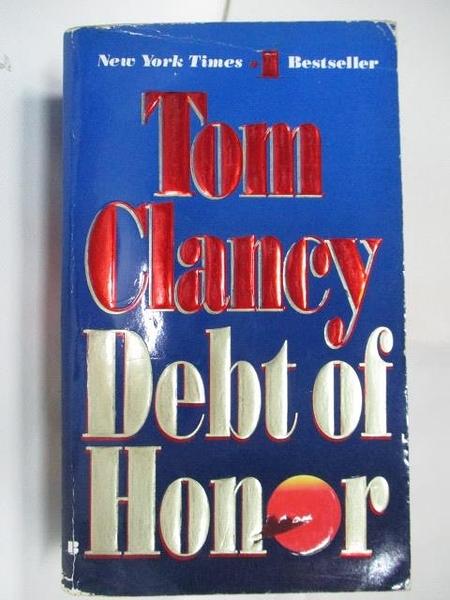 【書寶二手書T6/原文小說_A7K】Debt of Honor_Tom Clancy