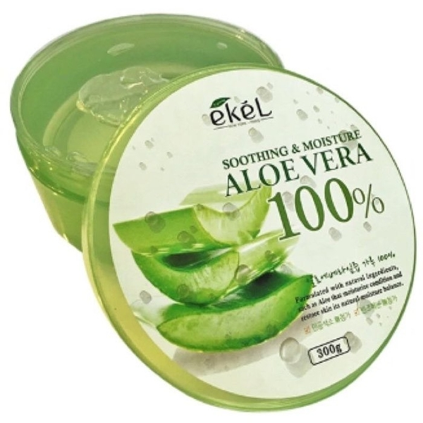 ●魅力十足● 韓國ekel 100% 舒緩保濕補水蘆薈凝膠 蘆薈膠 300g