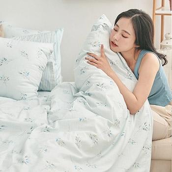 被套 / 雙人【日月青畔】100%精梳棉 戀家小舖台灣製AAS202