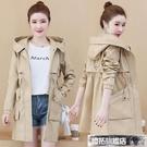 風衣外套 新款秋季韓版中長款流行風衣小個子氣質女士春秋外套百搭潮