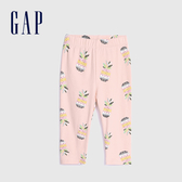 Gap 女幼童 舒適彈力鬆緊腰緊身褲 584207-鳳梨圖案