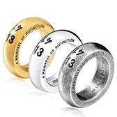 《 QBOX 》FASHION 飾品【R10BR-R085】精緻個性素面一生一世1314鈦鋼戒指/戒環