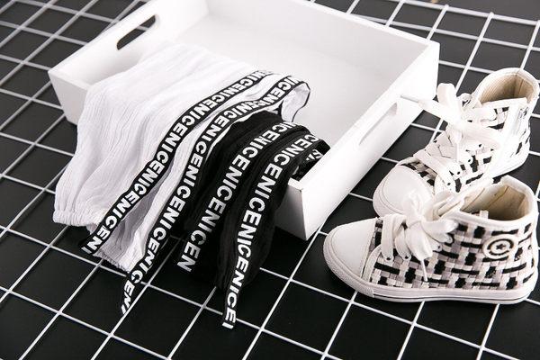 *╮小衣衫S13╭*潮童車邊條薄透休閒褲 1060409