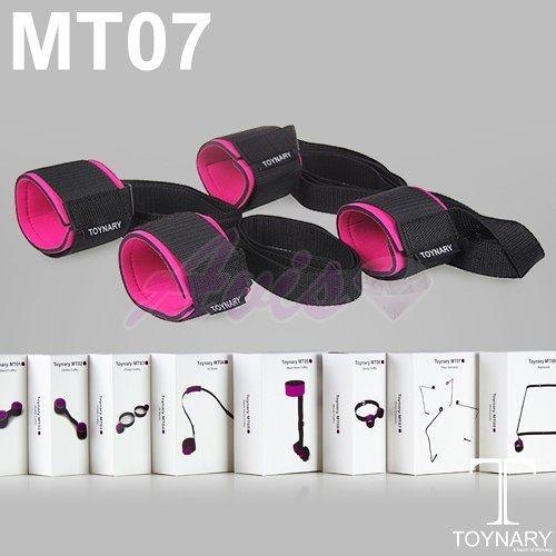 SM性愛 情趣用品按摩棒 香港Toynary MT07 Four Corners 特納爾 手腳固定 定位帶 手腳銬 +潤滑液2包