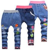 春秋款兒童牛仔褲男女童裝長褲