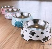 狗狗碗飯盆大型犬狗碗貓糧盆狗食盆貓碗不銹鋼寵物碗【時尚大衣櫥】