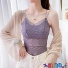 吊帶背心 夏季女士韓版打底衫百搭短款小背心大碼內搭上衣抹胸薄款蕾絲吊帶寶貝計畫 上新
