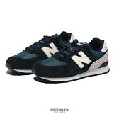 NEW BALANCE 童鞋 休閒鞋 NB 574 黑 麂皮 藍 中大童 (布魯克林) GC574BD1