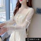 蕾絲洋裝子女裝春裝2021年新款早春款高端洋氣仙女超仙森系【全館免運】